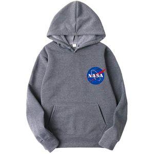 SWEATSHIRT Sweatshirt OMLHB NASA Logo Hoodie Universe Back Pr
