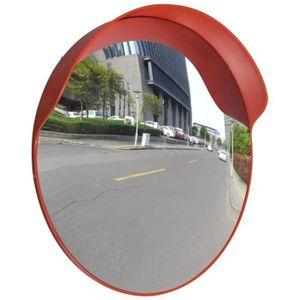 MIROIR DE SÉCURITÉ Miroir de trafic convexe Plastique Orange 60 cm
