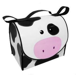 3 Thé Café Sucre Boîtes de Stockage Pots vache mouton cochon animaux ferme Noir Crème