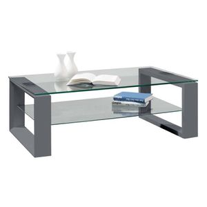 Table basse gris anthracite achat vente table basse for Table basse gris anthracite