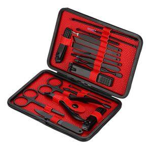 COUPE-ONGLES 18pcs Kit de Coupe-ongles Professionnel en Acier I
