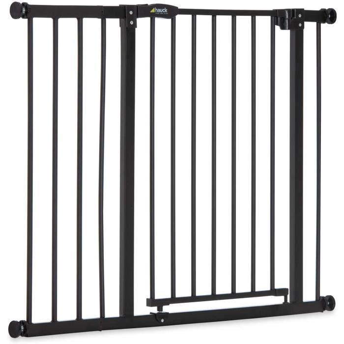 Hauck Close N Stop avec Extension 21 cm Barrière de Sécurité Porte et Escalier 96 à 101 cm, Fixation à Pression, Compatible avec Ada