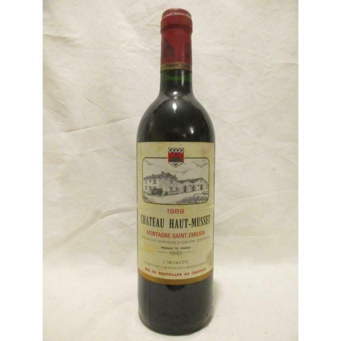 montagne saint-émilion château haut musset rouge 1988 - bordeaux france