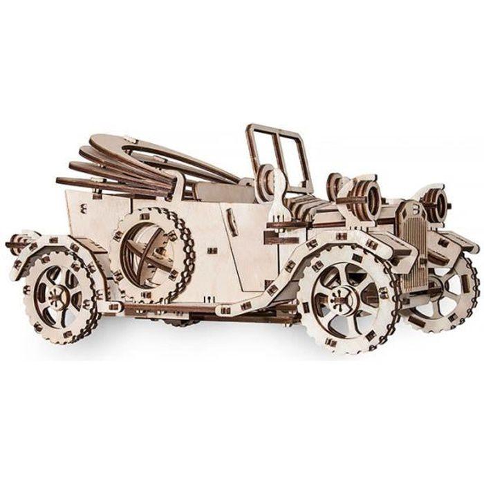 Maquette en bois mécanique - Voiture ancienne