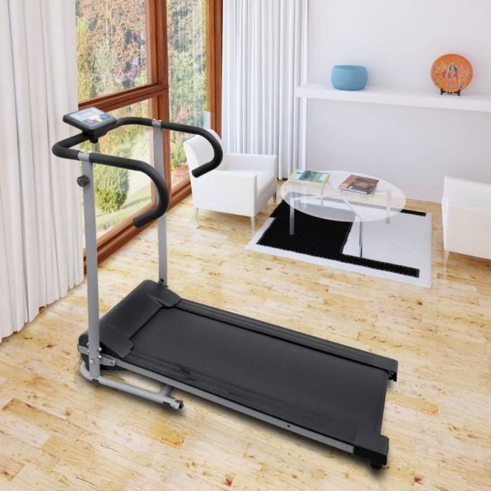 Tapis roulant électrique Tapis de marche de course Machine de fitness 100 x 34 cm avec écran LCD de 3- 500 W 1-6 km-h