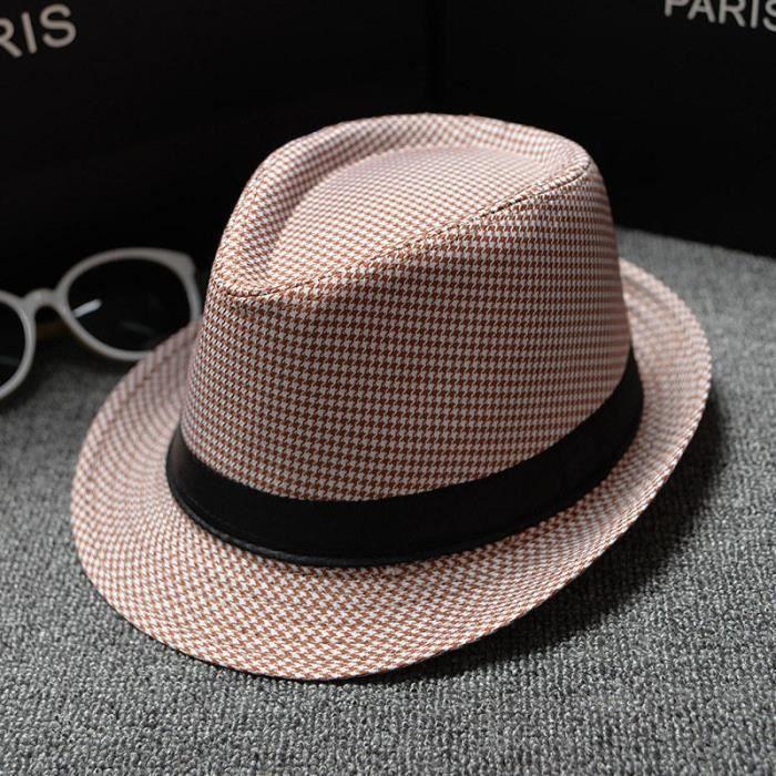 13 -Fedoras – chapeau à carreaux rétro anglais pour hommes, style Jazz, casquette, Version classique, printemps, été, automne, 2018