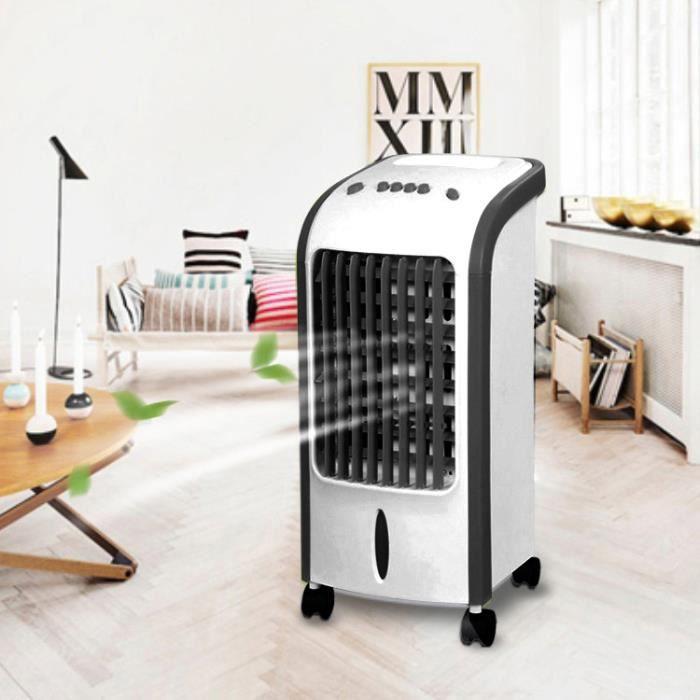 Three Refroidisseur Ventilateur D'air électrique Mobile pour Maison Bureau - Noir