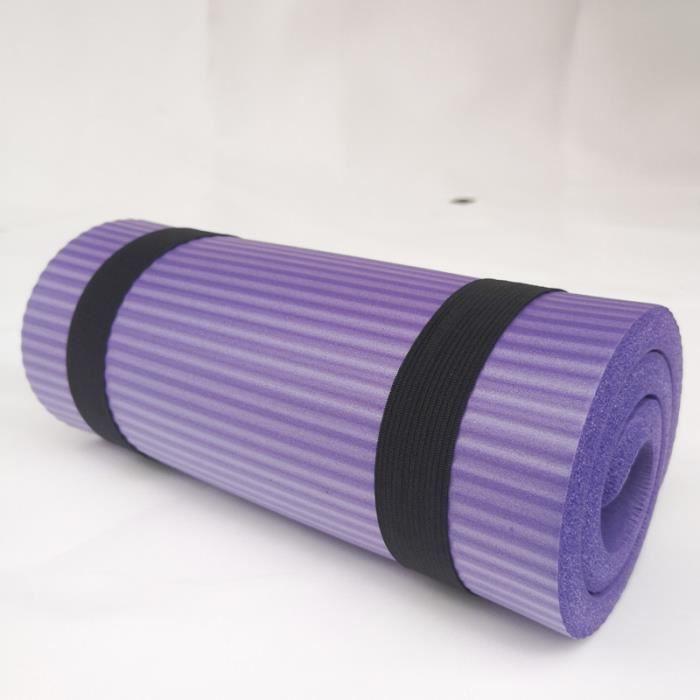 Tapis de yoga Coussin de roue abdominale Support de planche Coudière Assistant de yoga-violet