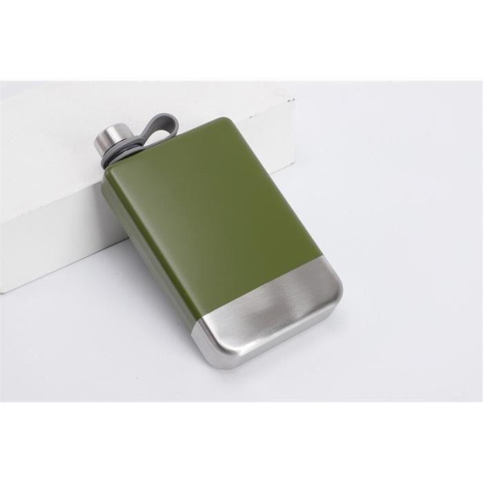 Flasques,Bouteille de 9oz 304 en métal pour boire ou boire de l'alcool,accessoire pour cadeau de demoiselle - Type Army Green