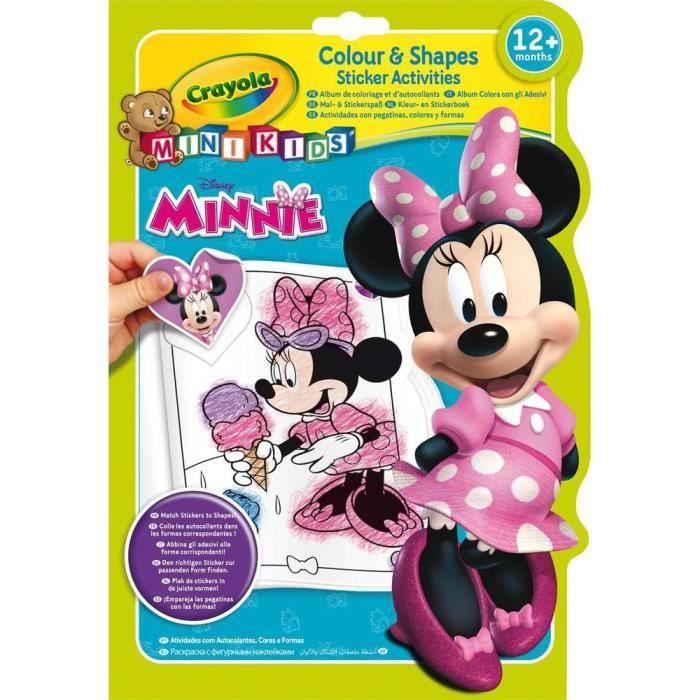 Crayola - Mini Kids - Album coloriage & autocollants Minnie - Coloriage pour enfant et tout petit