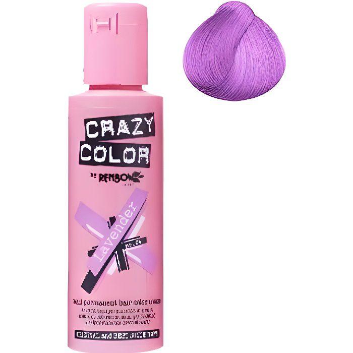 Coloration cheveux semi-permanente CRAZY COLORLAVENDER = LavandePour un look FUN et des cheveux aux couleurs vives et originales