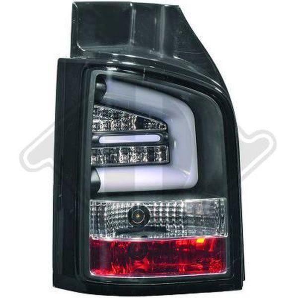 Paire de feux arriere VW T5 hayon 11-15 led LTI noir (993)