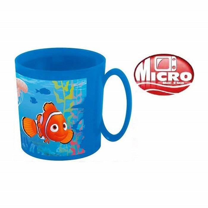 Mug tasse gobelet avec poignet NEMO et DORY disney micro onde (2 min maxi) 350ml plastique bleu - NEUF