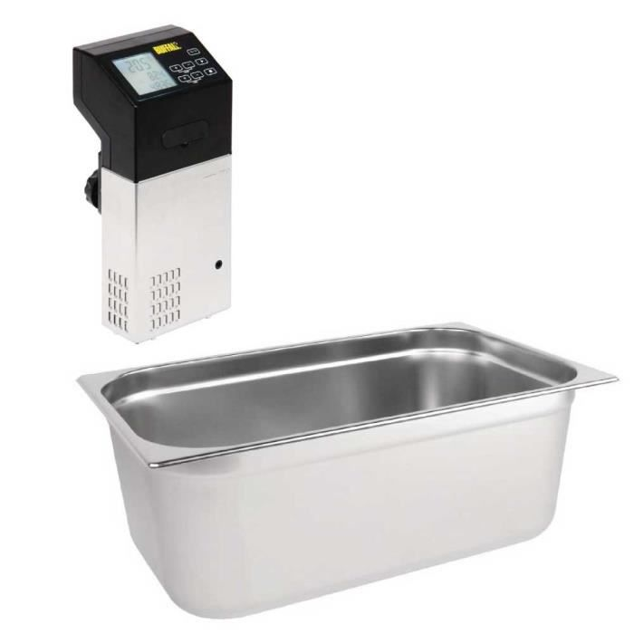 Thermoplongeur cuisson sous vide + Bac GN1/3 inox