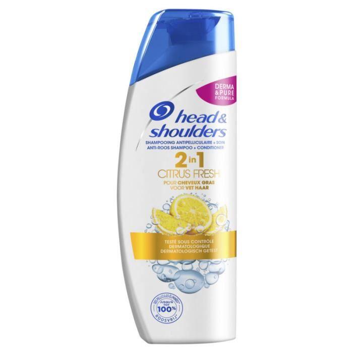 HEAD & SHOULDERS Shampoing 2-en-1 Citrus fresh - 270 ml