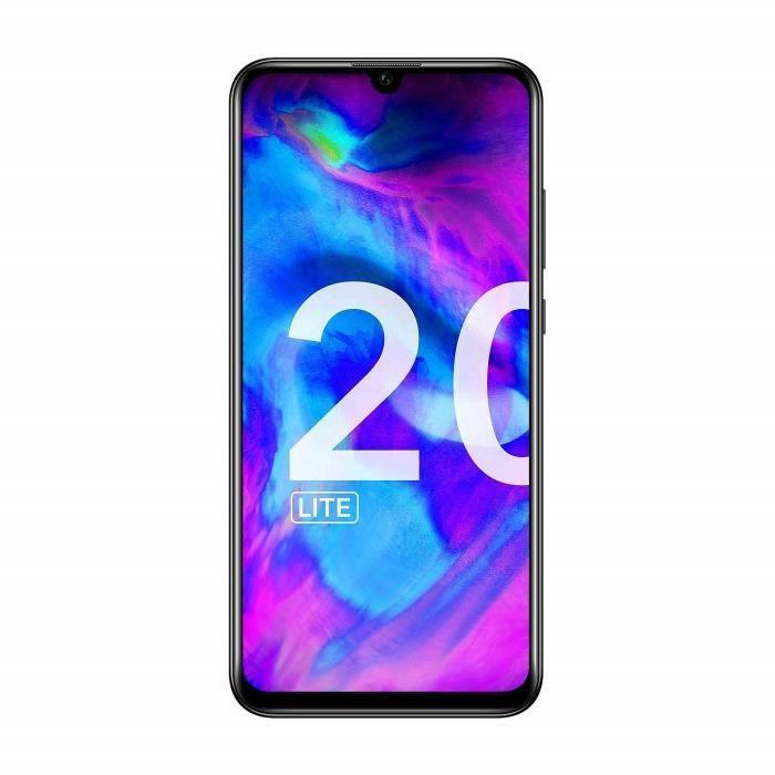 Honor 20 Lite - Smartphone 4G Dual SIM - 128Go ROM - Midnight Black [Version Allemande-Italienne-Espagnole]