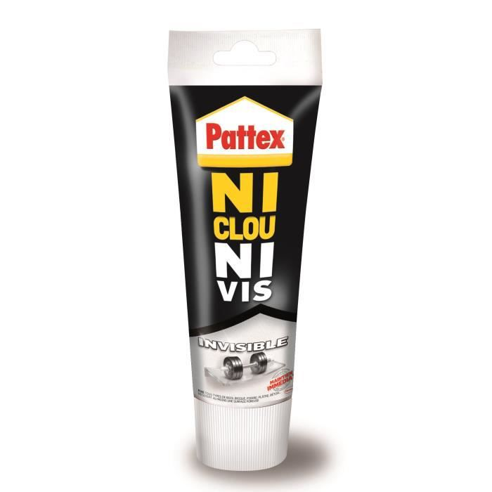 Colle Ni clou ni vis chrono invisible Pattex - Tube 200g