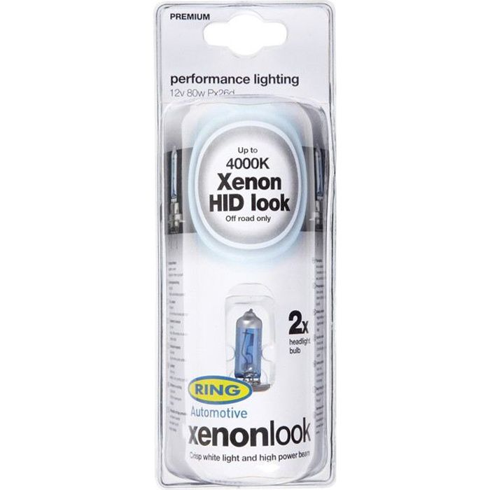 2 ampoules H4 XENON LOOK 12v 100/80w RING