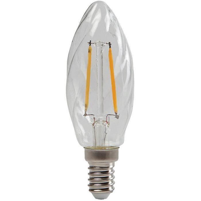 Led filament flamme torsadée 250lm E14 clair blister