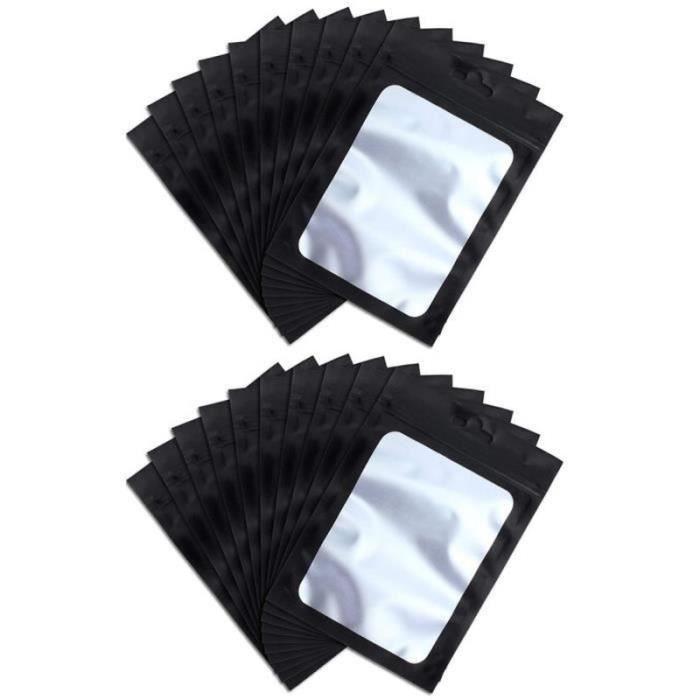 DX22256-Sacs de mylignon ziplock. sacs de rangement de nourriture refermables avec fenêtre transparente grains de café Pochette 9