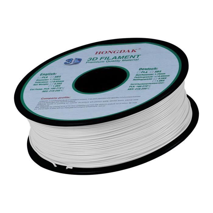 Filament dimprimante 3D Meterk/® PLA Mat/ériel//1.75mm//1KG Blanc
