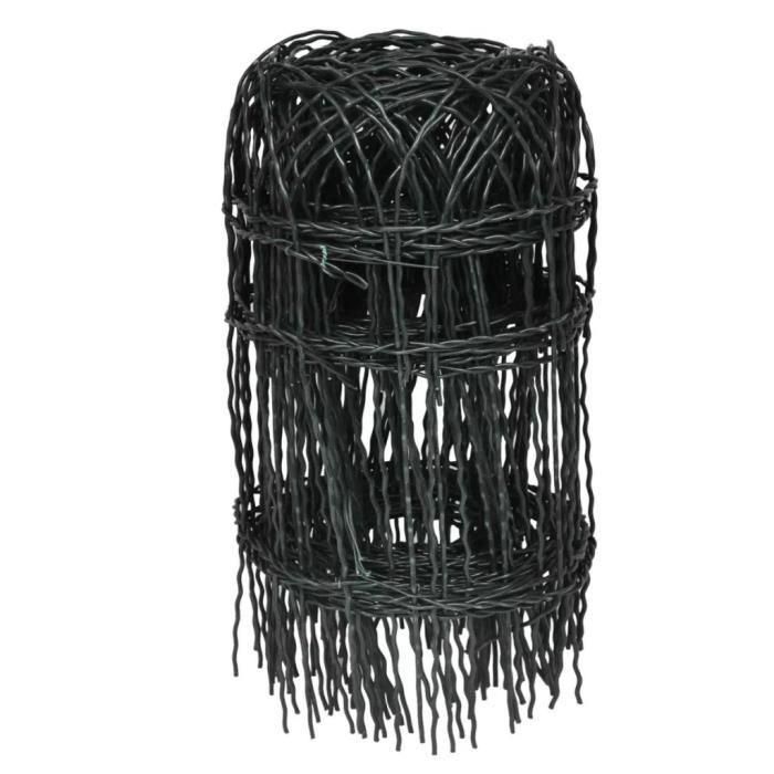BORDURE Bordure de pelouse Fer enduit de poudre 10x0,4 m
