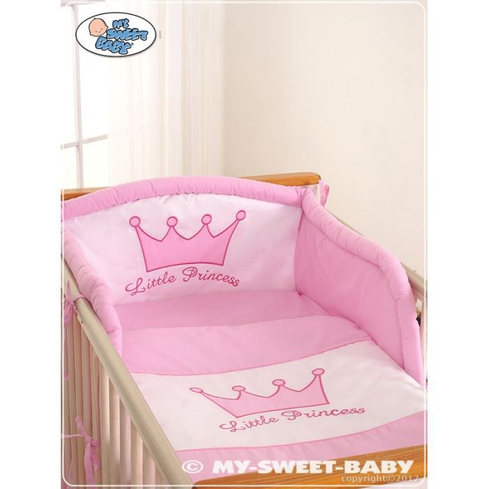 parure de lit b b little princess rose avec to achat. Black Bedroom Furniture Sets. Home Design Ideas