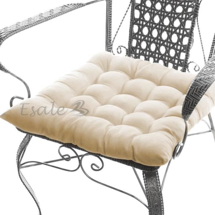 coussin galette chaise conceptions de maison. Black Bedroom Furniture Sets. Home Design Ideas