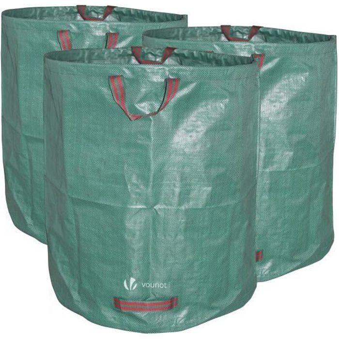 SCHRAMM ® Sac 300 L Vert robuste en polypropylène tissus Sacs Jardin Jardin