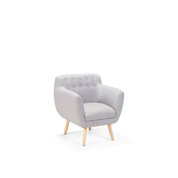 FAUTEUIL Fauteuil de salon - fauteuil en tissu gris clair -
