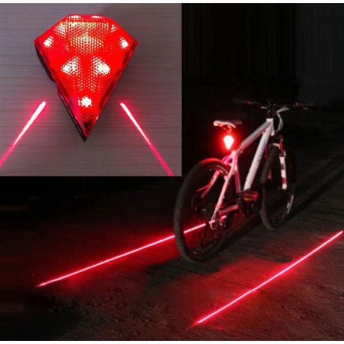 Ensemble 2 pièces Cyclisme Vélo Bande Réfléchissante Et Lumière DEL Sécurité Run