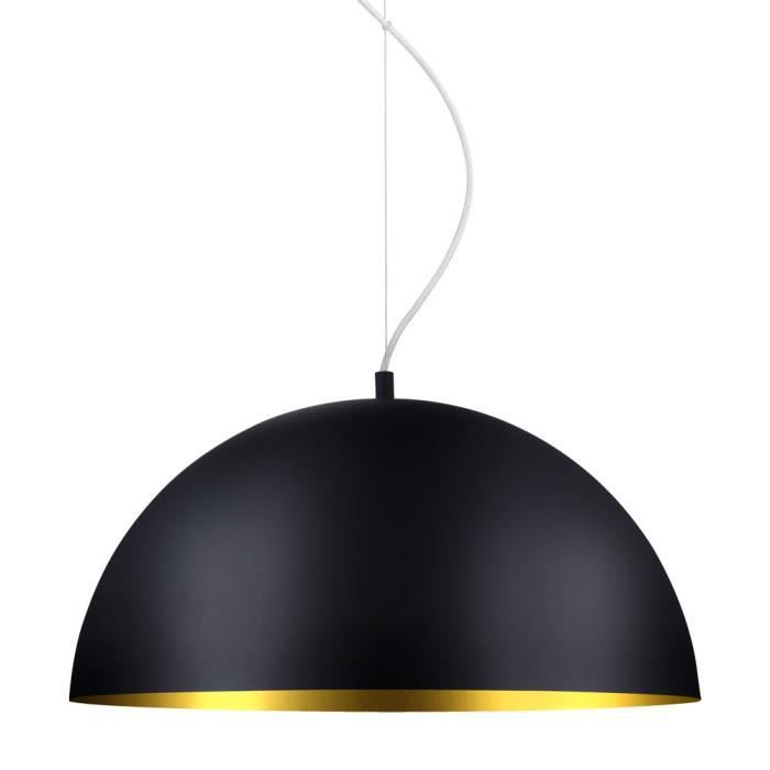 Suspension lustre luminaire plafond cuivre noir clairage for Lustre ou suspension