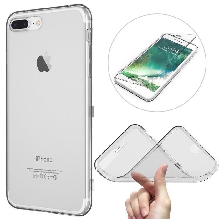 coque iphone 7 plus transparente blanc integral ra