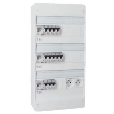 Schneider Electric SC5R9H13403D3 Coffret /électrique /à /équiper 3 rang/ées de 13 modules Blanc