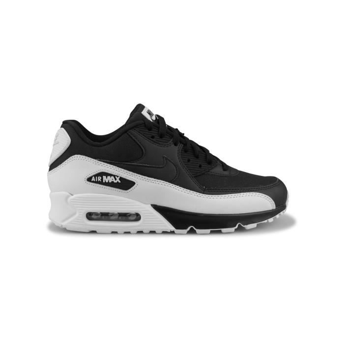 skate shoes buying cheap best sale NIKE Baskets Air Max 90 Essential en cuir - Homme - Noir - Achat ...