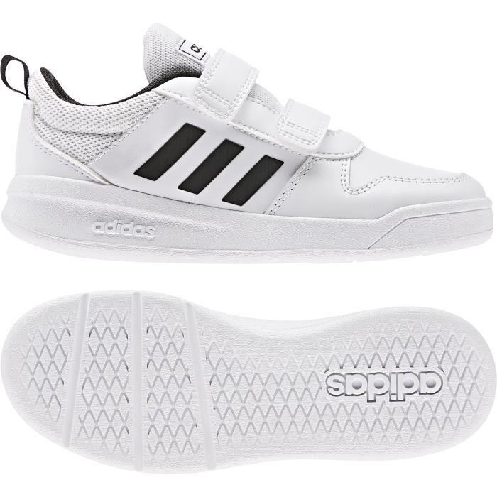 ADIDAS Baskets Vector C - Enfant - Blanc et noir