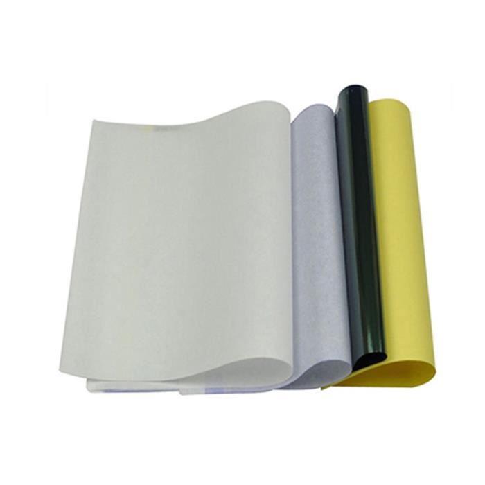 4 Couches Carbone Thermique Pochoir Tatouage Transfert Papier Copie Papier Papier Calque Professionnel Tatouage Accessoires Jaune Et Noir Frjasnyfall Loisirs Creatifs Papiers Et Papeterie