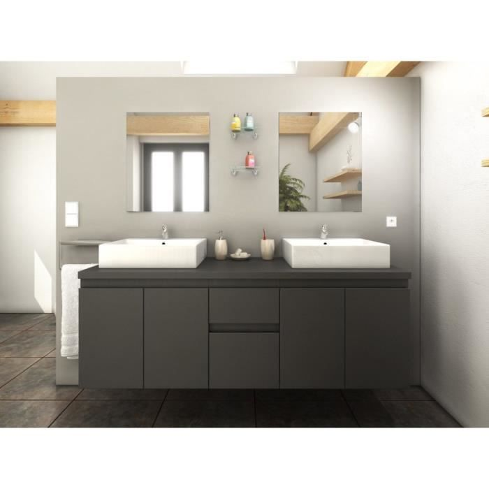 paris prix ensemble meuble salle de bain cologne 150cm gris mat achat vente salle de. Black Bedroom Furniture Sets. Home Design Ideas