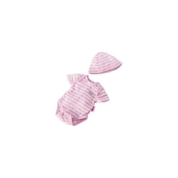 ACCESSOIRE POUPÉE Ensemble body et bonnet raye pour poupon Baby Born