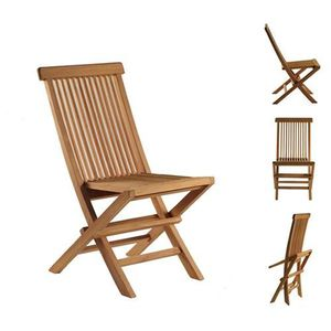 Lot de 4 chaise de jardin en teck - Achat / Vente Lot de 4 chaise ...