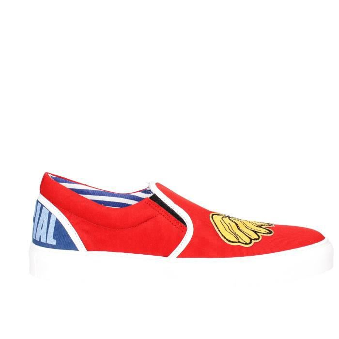 Beat Generation Slip-on Chaussures Homme Rouge, 44