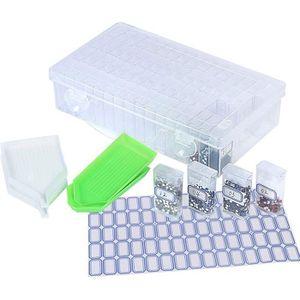 iDesign bo/îte avec couvercle rangement salle de bain chic en plastique /à deux compartiments pour cotons et cotons tige organiseur transparent