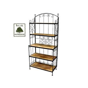 etagere fer bois achat vente etagere fer bois pas cher black friday le 24 11 cdiscount. Black Bedroom Furniture Sets. Home Design Ideas