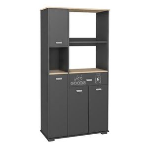 buffet cuisine gris achat vente buffet cuisine gris pas cher cdiscount. Black Bedroom Furniture Sets. Home Design Ideas