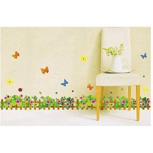 ARBRE - BUISSON Sticker papillon buisson clôture plinthe Sticker s
