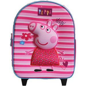 CARTABLE cartable a roulettes peppa pig rose 3d