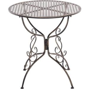 Table fer forge achat vente table fer forge pas cher for Table de jardin ronde en fer