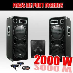 PACK SONO Pack 15212 Sonorisation 2000W Caisson bi-amplifié