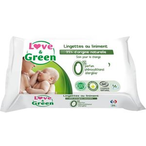 COUCHE LOVE AND GREEN Lingettes au liniment x 56