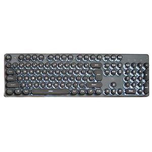 CLAVIER D'ORDINATEUR K100 Steampunk Retro Keycap USB Filaire Rétroéclai